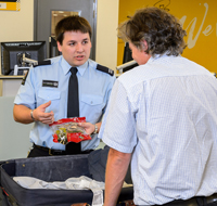 biosecurity check at arrivals