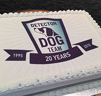 detector dog birthday cake 200 190