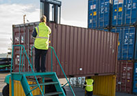 container inspection at Port of Auckland